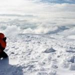 escursionisti in montagna — Foto Stock