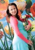 Mujer embarazada — Foto de Stock