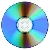 DVD isolated on white. — Stock Photo
