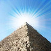 Egyptian pyramid in Giza. — Stock Photo