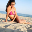 Woman wearing bikini on the beach. — Stock Photo #1059336