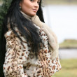Woman in a fur coat — Stock Photo #1061864
