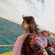 Woman on a ship - Stock Photo