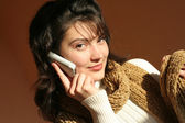 Woman talking on the phone. — Stock Photo