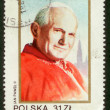 Postal stamp of Poland. — Stock Photo