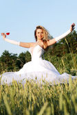 Girl in wedding dress. — Stock Photo