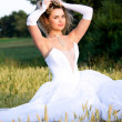 Girl in wedding dress. — Stock Photo