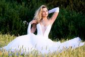 Girl in wedding dress — Stock Photo