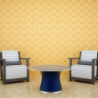 Royalty-Free Stock Photo: Room with two chairs and a table