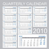 Quarter calendar — Stock Vector
