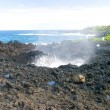 Blowhole at Nakalele Point - Stock Photo