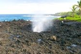 Blowhole at Nakalele Point — Stock Photo