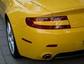 Detail of luxury sports-car — Stock Photo
