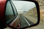 Rear road view — Stock Photo