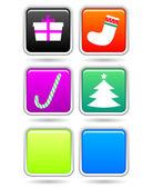 新年ボタン — ストックベクタ