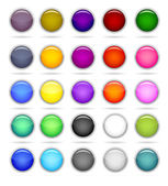 Set of circle button — Stock Vector