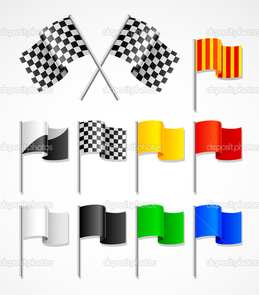 Vector set of  sport flag — Stock Vector #1483678