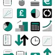 Royalty-Free Stock Vectorielle: Finance web icon