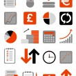 Financial web icons — Vector de stock