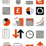 iconos web financiera — Vector de stock