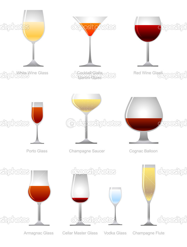 Vector collection of alcoholic drink — Stock Vector #2010896