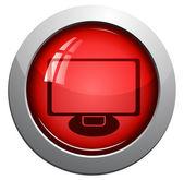 Wektor ikonę monitora — Wektor stockowy
