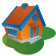 Vector illustration of house — Stock Vector #1167802