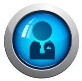 User, web vector glossy icon — Stock Vector