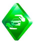 Car insurance, vector icon — Stock Vector