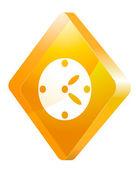 Clock, vector icon — Stock Vector