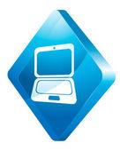 Laptopa, ikona wektor — Wektor stockowy