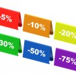 Colourful discount tags — Stock Photo