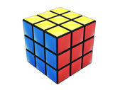 Colorful cube puzzle — Stock Photo