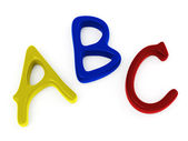 ABC candy letters — Stock Photo