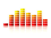 3D graphic equalizer — Stock Photo