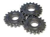 Three gear wheels — Stock Photo