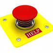 Red help button — Stock Photo #1105926