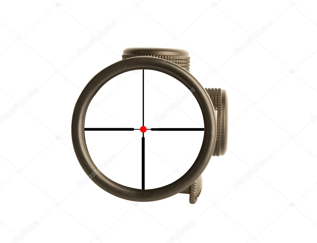 Image of a rifle scope sight used for aiming with a weapon  Stock Photo #1118783