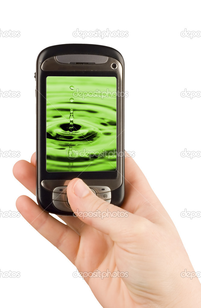 Technology business communication device cellular phone and camera isolated clipping paths — Stock Photo #1119788