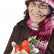 Stock Photo: Christmas girl ornaments