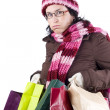 Royalty-Free Stock Photo: Christmas shopping woman