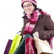 Stock Photo: Christmas shopping woman