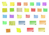 Isolated blank postit paper on withe bac — Stock Photo