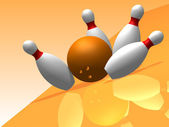 3D. Bowling — Stock Photo