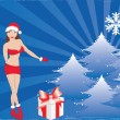 Royalty-Free Stock Vektorgrafik: Santa Girl