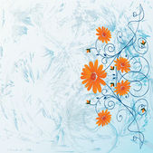 Decorative flowers — Stock Vector