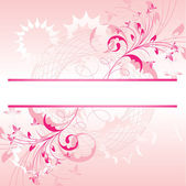 Banner floral background. — Stock Vector