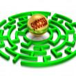 3D. Success Labyrinth. — Stock Photo
