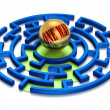 3D. One Way Labyrinth. — Stock Photo