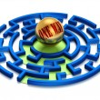 Stock Photo: 3D. One Way Labyrinth.